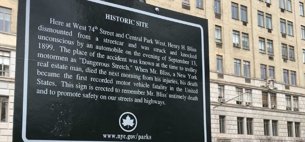 Henry Bliss Plaque